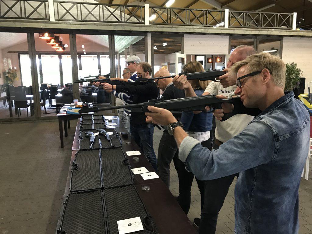 schieten met 5 wapensoorten